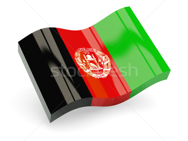 3D флаг Афганистан изолированный белый волна Сток-фото © MikhailMishchenko