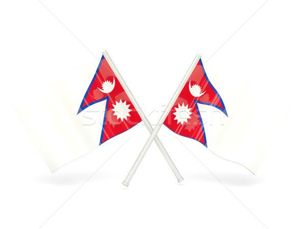 флаг Непал путешествия белый Pin баннер Сток-фото © MikhailMishchenko