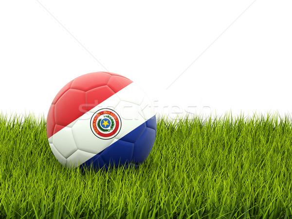 Football with flag of paraguay Stock photo © MikhailMishchenko