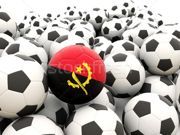 футбола флаг Ангола регулярный лет Сток-фото © MikhailMishchenko