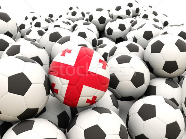 Futball zászló Grúzia rendszeres golyók nyár Stock fotó © MikhailMishchenko