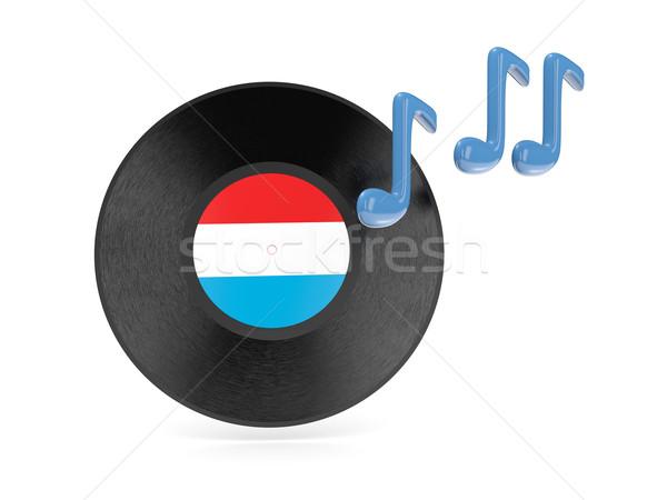 Vinyl schijf vlag Luxemburg geïsoleerd witte Stockfoto © MikhailMishchenko