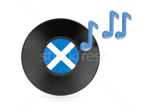 виниловых диск флаг Шотландии изолированный белый Сток-фото © MikhailMishchenko