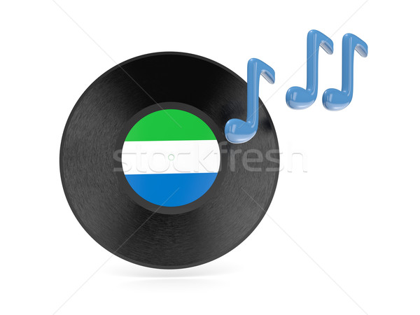 Vinyl disk with flag of sierra leone Stock photo © MikhailMishchenko