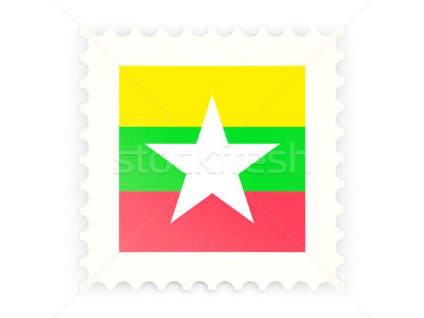 Icon Myanmar geïsoleerd witte teken Stockfoto © MikhailMishchenko