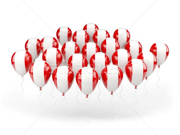 Balões bandeira Peru isolado branco viajar Foto stock © MikhailMishchenko