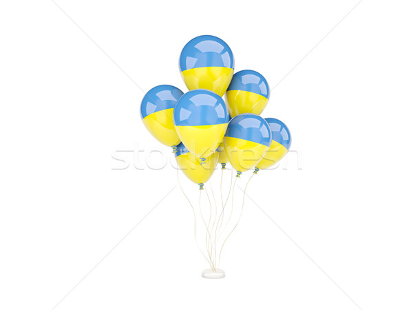 Flying balloons with flag of ukraine Stock photo © MikhailMishchenko