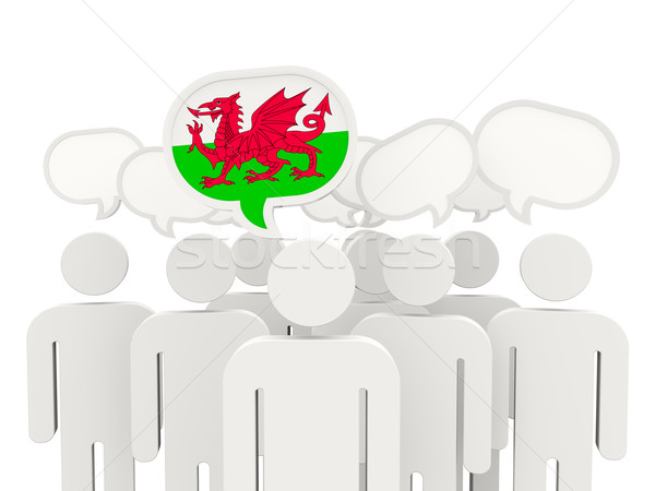 People with flag of wales Stock photo © MikhailMishchenko