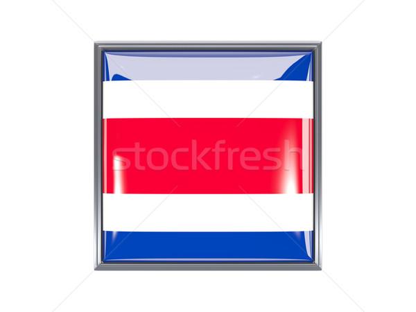Square icon with flag of costa rica Stock photo © MikhailMishchenko
