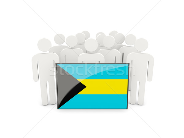People with flag of bahamas Stock photo © MikhailMishchenko