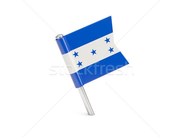 Bandiera pin Honduras isolato bianco Foto d'archivio © MikhailMishchenko