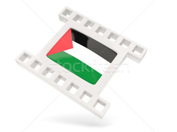 Movie icon with flag of palestinian territory Stock photo © MikhailMishchenko