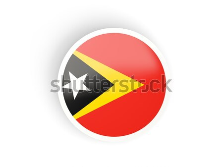 Round sticker with flag of east timor Stock photo © MikhailMishchenko