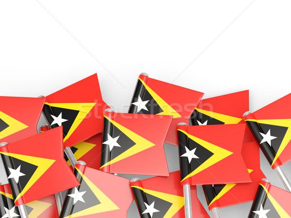 Flag pin of east timor Stock photo © MikhailMishchenko