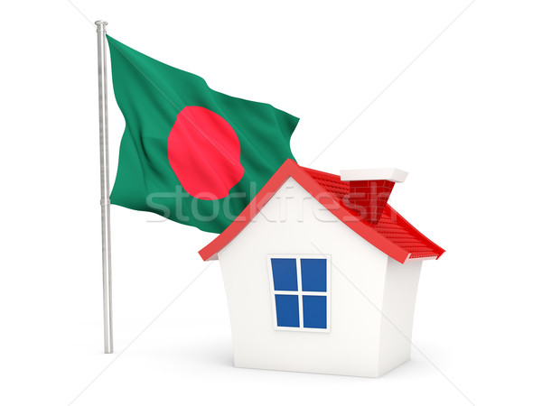 Ház zászló Banglades izolált fehér otthon Stock fotó © MikhailMishchenko