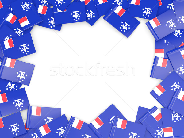 Frame with flag of french southern territories Stock photo © MikhailMishchenko