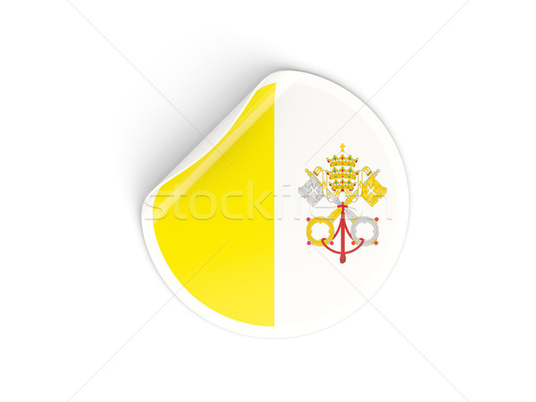 Round sticker with flag of vatican city Stock photo © MikhailMishchenko