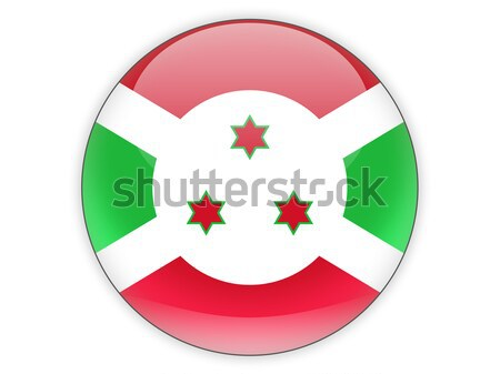 ícone bandeira Burundi assinar viajar Foto stock © MikhailMishchenko