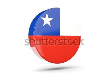 Ikon zászló Panama fényes felirat fehér Stock fotó © MikhailMishchenko