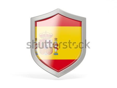 Shield icon with flag of andorra Stock photo © MikhailMishchenko