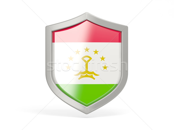 Shield icon with flag of tajikistan Stock photo © MikhailMishchenko