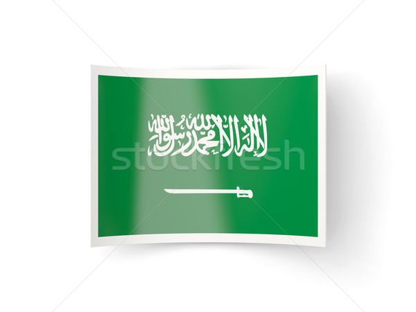 Icon vlag Saoedi-Arabië geïsoleerd witte land Stockfoto © MikhailMishchenko