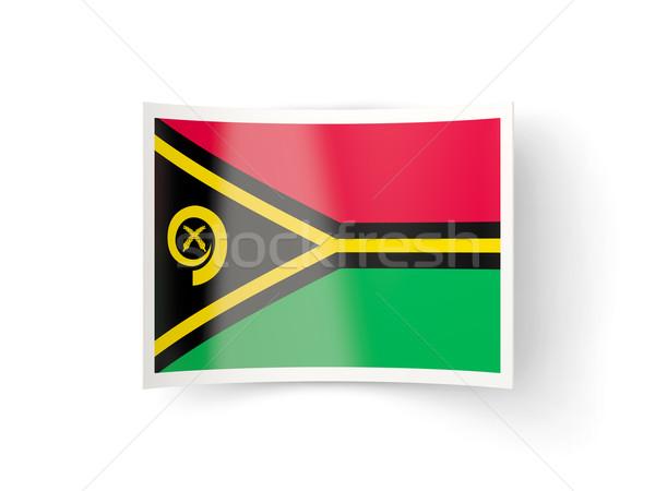 Bent icon with flag of vanuatu Stock photo © MikhailMishchenko