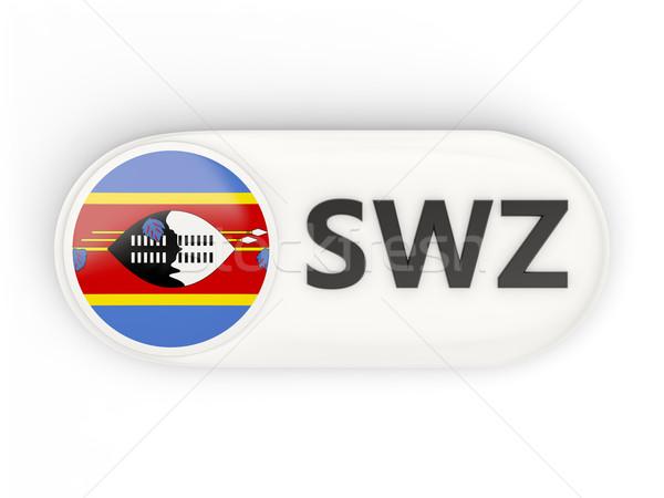 Ikona banderą Suazi iso kodu kraju Zdjęcia stock © MikhailMishchenko