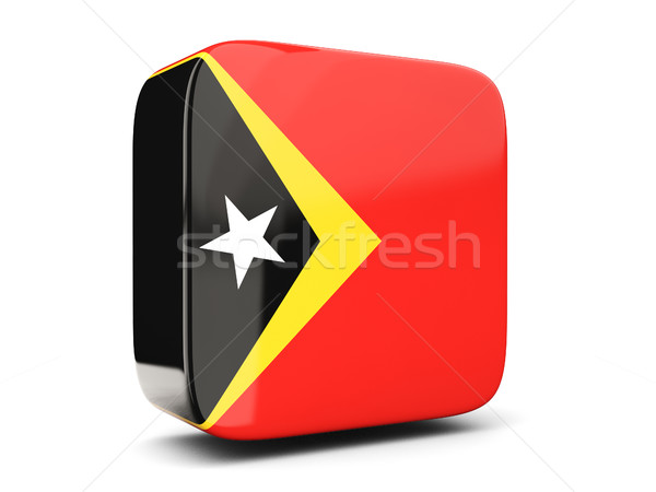 Square icon with flag of east timor square. 3D illustration Stock photo © MikhailMishchenko