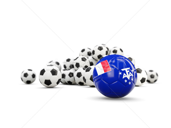 Football with flag of french southern territories isolated on wh Stock photo © MikhailMishchenko