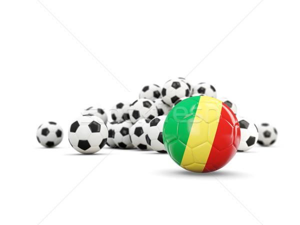 футбола флаг республика изолированный белый 3d иллюстрации Сток-фото © MikhailMishchenko