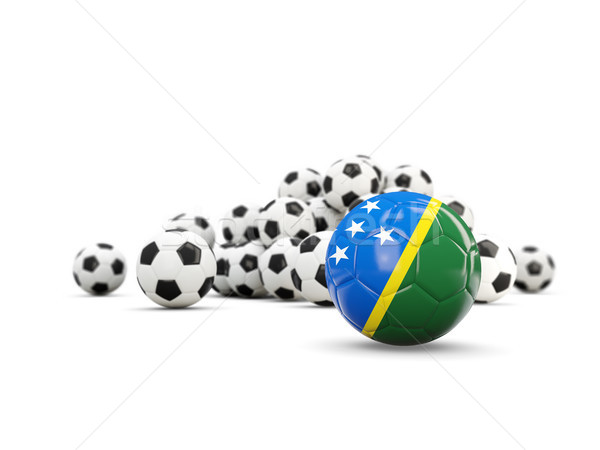 Football with flag of solomon islands isolated on white Stock photo © MikhailMishchenko