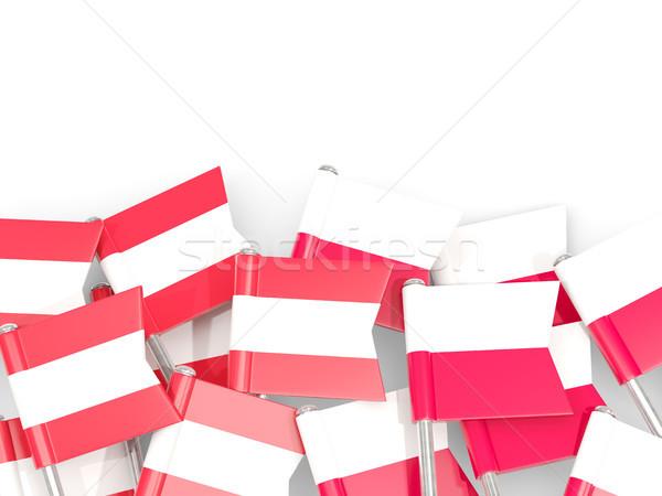 флаг изолированный белый 3d иллюстрации Европа язык Сток-фото © MikhailMishchenko