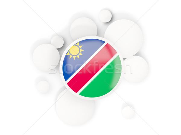 Zászló körök minta izolált fehér 3d illusztráció Stock fotó © MikhailMishchenko