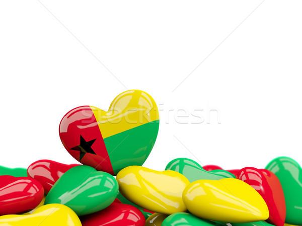 Heart with flag of guinea bissau Stock photo © MikhailMishchenko