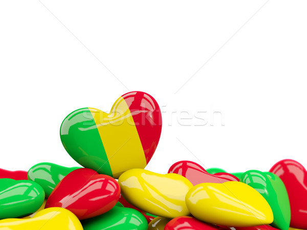 Heart with flag of mali Stock photo © MikhailMishchenko