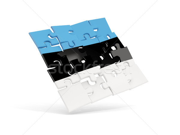 Puzzle flag of estonia isolated on white Stock photo © MikhailMishchenko