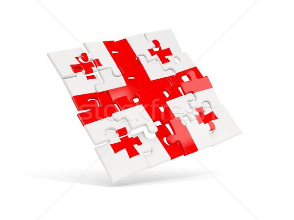 головоломки флаг Грузия изолированный белый 3d иллюстрации Сток-фото © MikhailMishchenko
