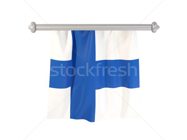 флаг Финляндия изолированный белый 3d иллюстрации Label Сток-фото © MikhailMishchenko