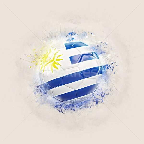 Grunge futball zászló Uruguay 3d illusztráció világ Stock fotó © MikhailMishchenko