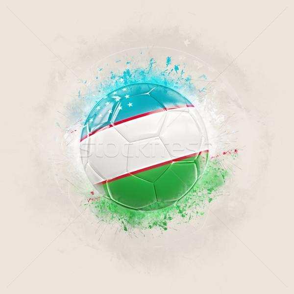 Grunge futball zászló Üzbegisztán 3d illusztráció világ Stock fotó © MikhailMishchenko