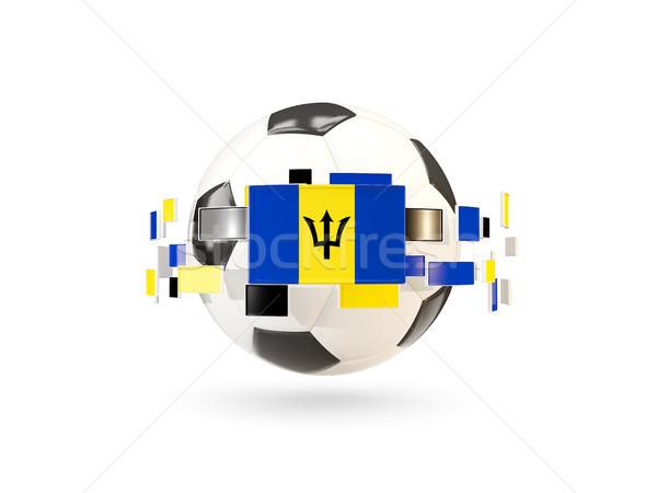 Futebol linha bandeiras bandeira Barbados flutuante Foto stock © MikhailMishchenko