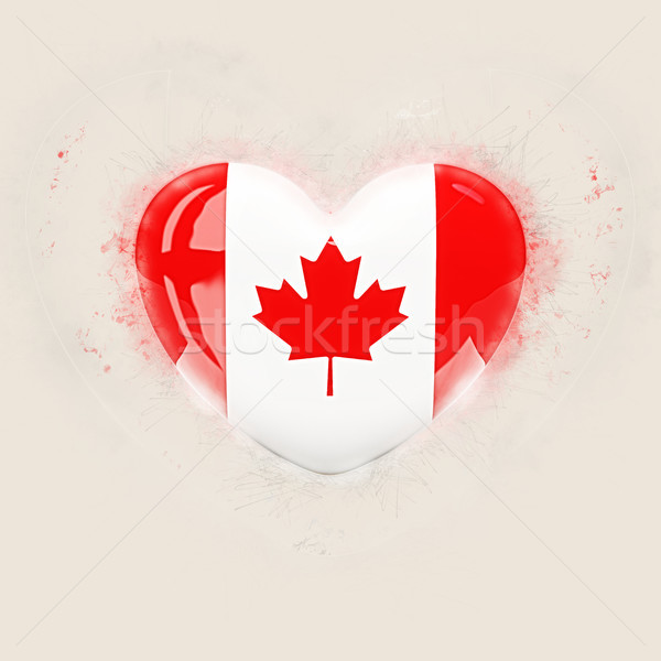 Coeur pavillon Canada grunge 3d illustration amour Photo stock © MikhailMishchenko