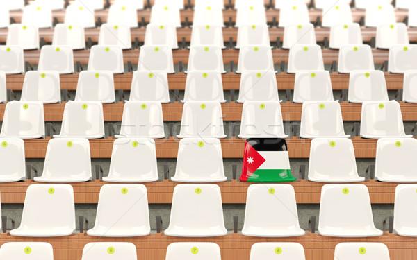 Stadion ülés zászló Jordánia csetepaté fehér Stock fotó © MikhailMishchenko