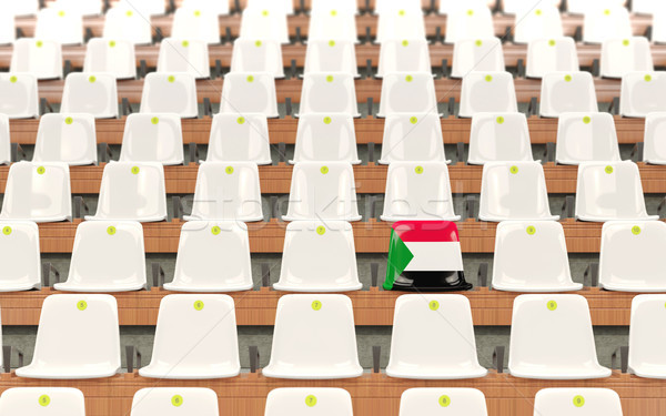 Stadium seat with flag of sudan Stock photo © MikhailMishchenko