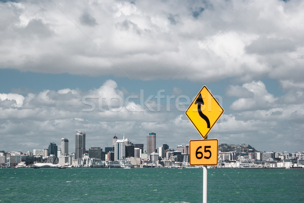 Auckland from across the harbor. Hiking in New Zealand Stock photo © MikhailMishchenko