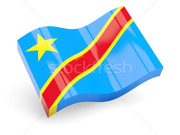 Stok fotoğraf: 3D · bayrak · demokratik · cumhuriyet · Kongo · yalıtılmış