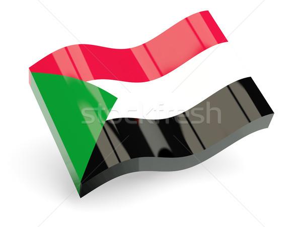 3D vlag Soedan geïsoleerd witte golf Stockfoto © MikhailMishchenko