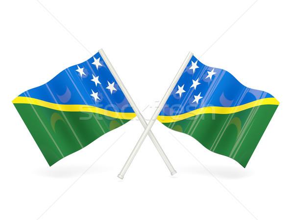 Flag of solomon islands Stock photo © MikhailMishchenko