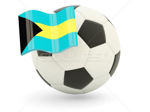 Futball zászló Bahamák izolált fehér sport Stock fotó © MikhailMishchenko